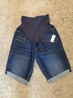 Old Navy Maternity Cuffed Denim Shorts - Size 2 Regular - NWT!!