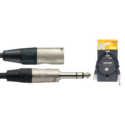 Stagg NAC1PSXMR 1m-3ft QTR inch Male Jack to Male XLR Cable (NEW)