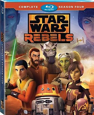 Star Wars Rebels New! Complete Season 4 Blu Ray Buy Now, USA Seller! Free Ship!