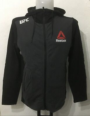 Ufc Grey/black Fight Night Walkout Hoodie By Reebok Size Men's Small Brand New