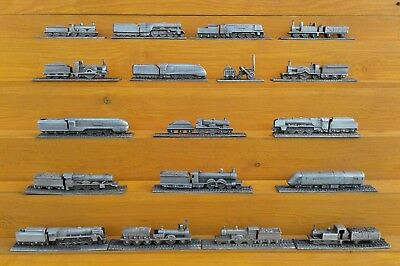 Royal Hampshire - Selection Of Miniature Pewter Trains.