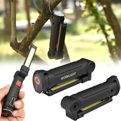 XANES USB COB LED Magnetic Work Light Car Garage Mechanic Rechargeable Torch