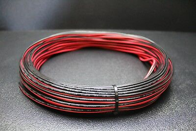 18 Gauge 100 Ft Red Black Zip Wire Awg Cable Power Ground Stranded