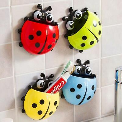 Cute ladybug insect toothbrush holder Cartoon Toiletries Toothpaste Holder Wa...
