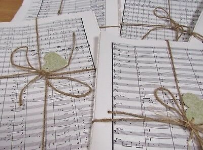 30 sheets WHITE Manuscript Music Paper. CHRISTMAS Crafts. Card making decoupage