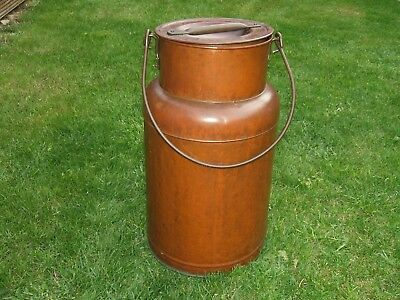 Vintage French Milk Churn Copper and Brass