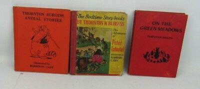 3 Thornton W. Burgess Books Bedtime Story Animal Stories On The Green Meadows