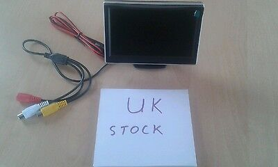 "5"" TFT LCD Monitor Screen For Car Rear View Backup Reverse System Camera GPS"