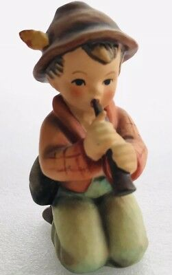 """Vintage Hummel """"little Tooter"""" #214 W. Germany 3 3/4"""" Tall Boy Playing Horn"""