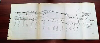 1892 Comparative Sketch Map Arkansas River I.T. Fort Smith Ark