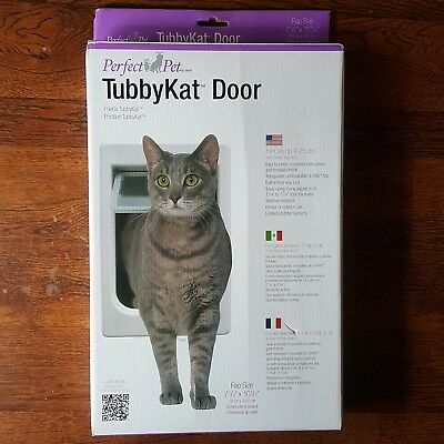 Perfect Pet Tubby Kat Cat Door with 4 Way Lock And LEXAN Flap - Brand New