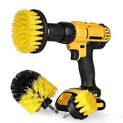 Original EZ Scrub drill brush 3 piece set (Yellow) - all purpose power scrubber
