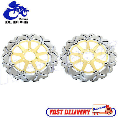 Gold Pair Front Brake Rotor Disc for Ducati 748 916 996 998 S R SP SPS BIPOSTO