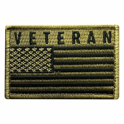 Veteran USA Flag Tactical Military Patch [Hook-3.0 X 2.0 MTV7]