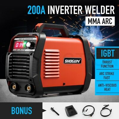 SHOGUN Welder Inverter ARC MMA 200Amp Welding Machine DC IGBT Stick LCD Display