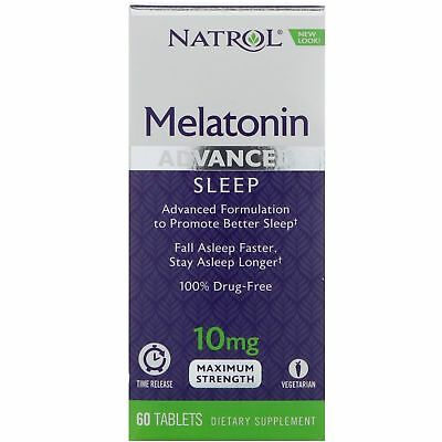Vegetarian tablets Natrol  STRESS RELIEF SLEEP AID 10 mg Advanced 60 Tablets.