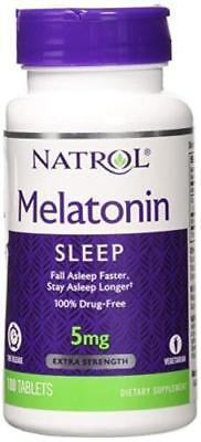 Vegetarian tablets Natrol  STRESS RELIEF SLEEP AID 5 mg 100 tab time release**