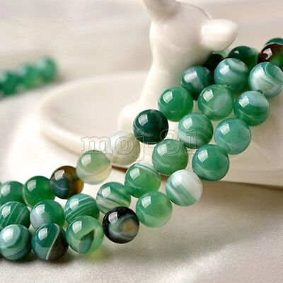 10mm Natural Green Dragon Veins Agate Onyx Gemstone Round Loose Beads 15'' AAA