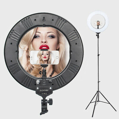 """ZOMEI 14"""" LED Ring Light External Continuous Lighting Stand Dimmable For Youtube"""
