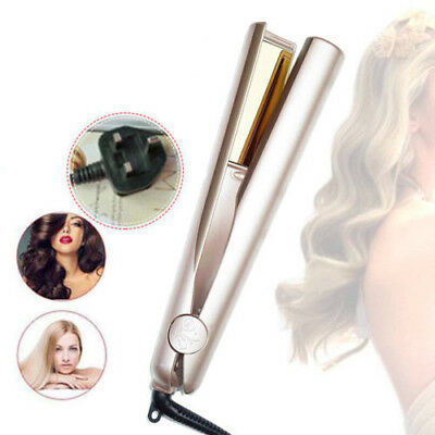 AU Plug TYME Iron 2 in 1 Hair Straightening Curling Gold Plated Titanium