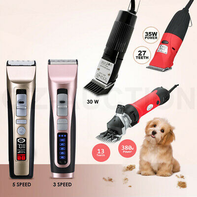 Electric Pet Clipper Comb Professional Animal Dog Cat Grooming Hair Trimmer Kit