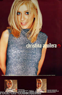 Christina Aguilera 1999 Original Debut Album Promo Poster