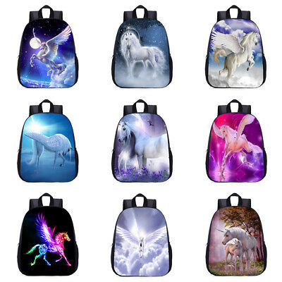 Girls Kids School Backpack Unicorn Printing Teenagers Travel Schoolbag Gift Bag