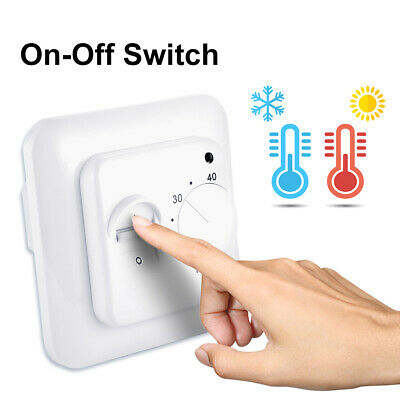 230V 16A Electric Mechanical Floor Heating Thermostat Switch with Sensor TE970