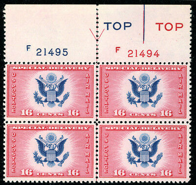 US Scott #CE2 Great Seal Special Delivery TOP Arrow Plate Bl 4 MNH***FREE SHIP**