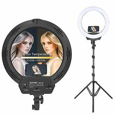 """ZOMEI 16"""" Dimmable LED Studio Ring Light 5500K Camera Video live Stream Makeup"""