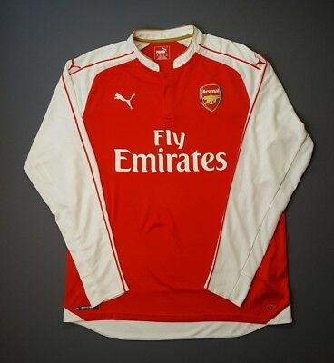 info for b4023 760b8 5/5 ARSENAL JERSEY XL 2015 2016 home shirt long sleeve soccer football Puma