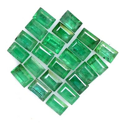 1.59 Cts Natural Emerald Baguette Cut 3x2 mm Lot 22 Pcs Untreated Loose Gemstone