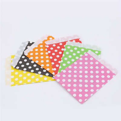25pcs Biodegrable Polka Dot Candy Gift Bag Wedding Party Paper Food Bag Z