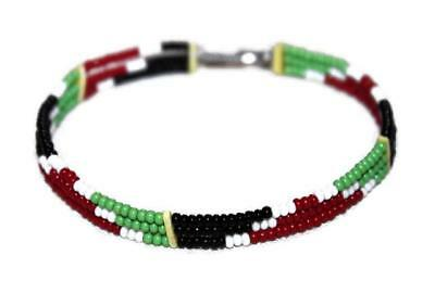 African Maasai Masai Beaded Ethnic Tribal Wire Bracelet - Made In Kenya #T05