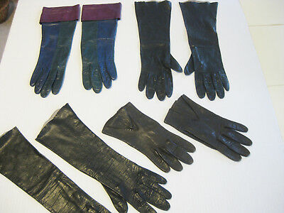 Vintage Leather Gloves Made in Italy, Anne Klein ARIS Lot of 4 Pairs