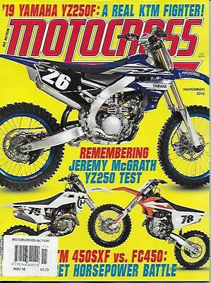 MOTOCROSS ACTION - November 2018 (NEW)*Post included to UK/Europe/USA/Canada