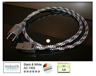 Inakustik Black & White AC-1502 Mains Power Cable - 1,50 M