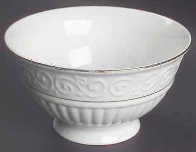 Gibson Designs CLAREMONT-GOLD (WHITE BACKGROUND) Soup Cereal Bowl 5918866