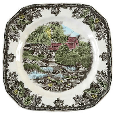 Johnson Brothers FRIENDLY VILLAGE Lily Pond Square Salad Plate (CHINA) 5810162