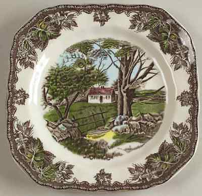 Johnson Brothers THE FRIENDLY VILLAGE Stone Wall Square Salad Plate 5810164