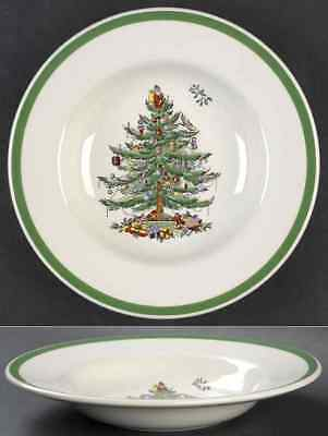 Spode CHRISTMAS TREE (GREEN TRIM) Rimmed Soup Bowl 8786665