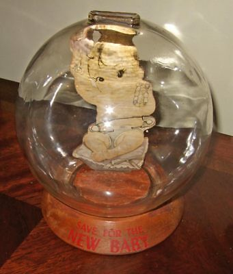 Vintage Vic Moran Money Meter Bubble Bank~Save For The New Baby