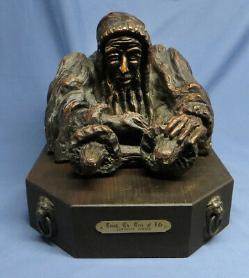 """Vintage """"TORAH, The Tree of Life"""" Sculpture by Lawrence Tanner, Signed & Dated"""