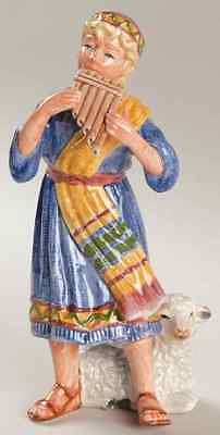 Fitz & Floyd NATIVITY FIGURINE Shepherd With Pan Flute