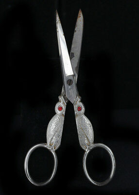 Vintage 30's Kullenberg Germany Owl Figural Sewing Scissors Shears Marked