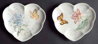 Lenox BUTTERFLY MEADOW Set of 2 Heart Party Plates 8927928