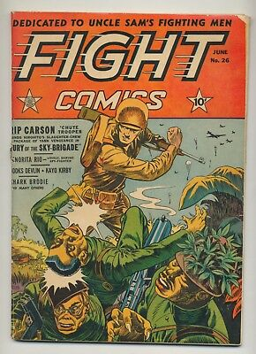 Fight Comics #26 1943 GD- (1.8) WWII Cover by Dan Zolnerowich ~ Fiction House
