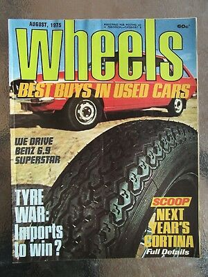 Wheels Car Magazine Aug 1975 - BENZ 6.9 SUPER STAR - BEST BUY'S IN USED CARS
