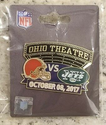 New York Jets VS Cleveland Browns  10/8/17 GAME DAY PIN BRAND NEW NFL PIN