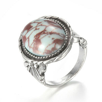 Bohemia Turquoise Silver Plated Charm Alloy Rings Jewelry For Women Lady S
